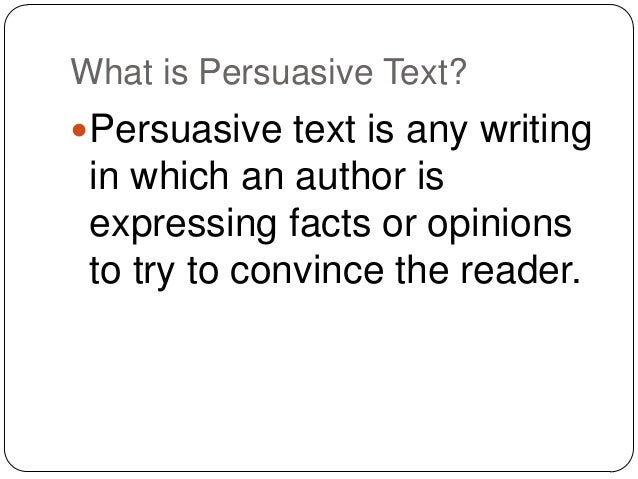 Why Persuasion?