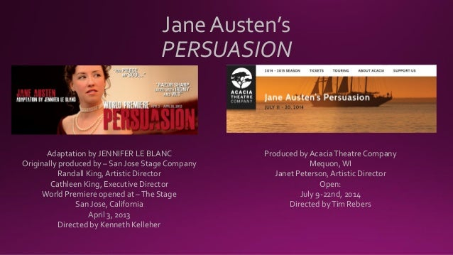 Jane Austen's Persuasion | Stage Play | Adapted by Jennifer Le Blanc, Preview Kit  Slide 2