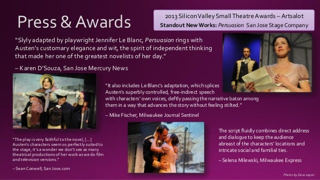 Jane Austen's Persuasion | Stage Play | Adapted by Jennifer Le Blanc, Preview Kit  Slide 3