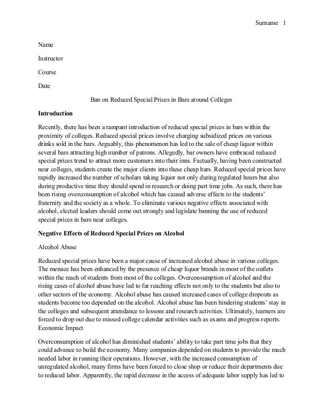 Discussion outline research paper