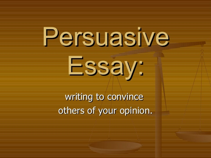 Persuasive Writing Packet
