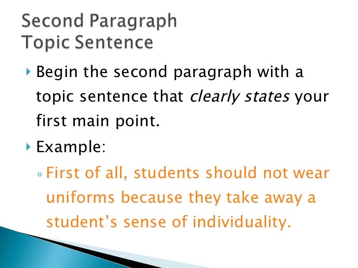 Example Of A Good Topic Sentence For An Essay   Clasifiedad  Com reliable rubrics