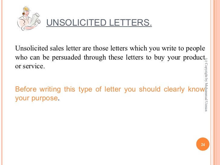 example of unsolicited letter - Romeo.landinez.co