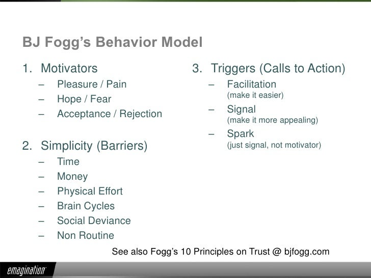 Persuasive Design – Fogg Behavior Model