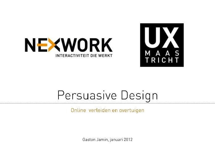Persuasive design uxm