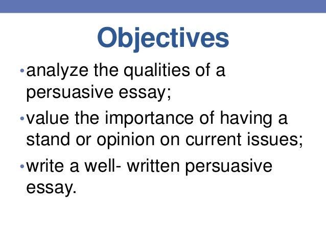 purpose of persuasive essay