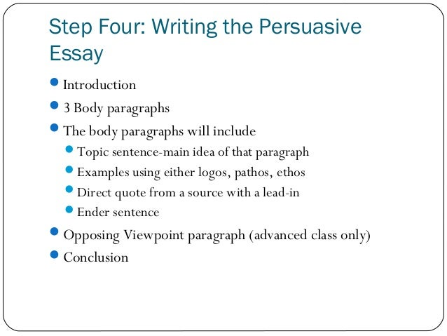 steps for writing an argumentative essay