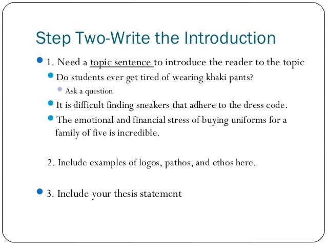 persuasive essay on uniforms conclusion The purpose of the persuasive essay is to give an argumentative analysis of a chosen topic should students wear uniforms in school should students influence the school curriculum the persuasive essay conclusion does not delve far from the introduction.
