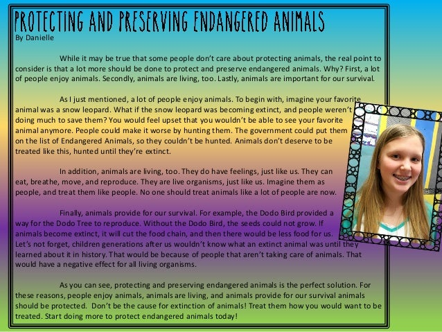 protecting endangered animals essay