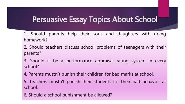 Persuasive Essay Samples For College
