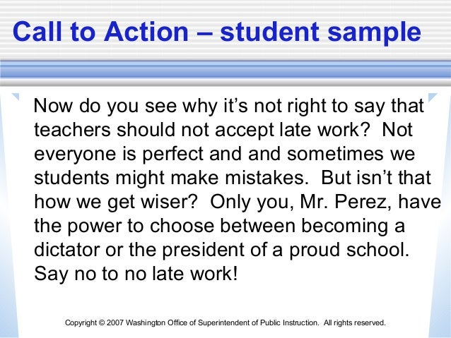 call to action examples persuasive essay - Template