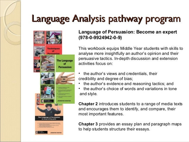 persuasive language essay The purpose of the persuasive essay is to give an argumentative analysis of a chosen topic use your personal opinions to adjust the reader's point of view.