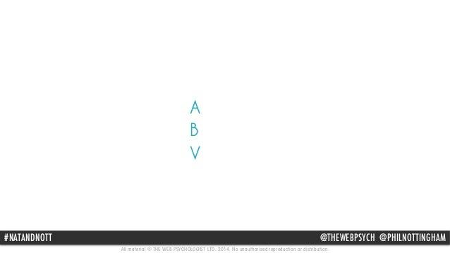 A  B  V  #NATANDNOTT @THEWEBPSYCH @PHILNOTTINGHAM  All material © THE WEB PSYCHOLOGIST LTD. 2014. No unauthorised reproduc...