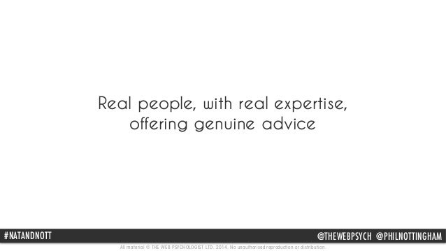 Real people, with real expertise,  offering genuine advice  #NATPAhNil DNNotOtinTgTh am @THEWEBPSYCH @@PpHhIilLnNotOtinTgT...