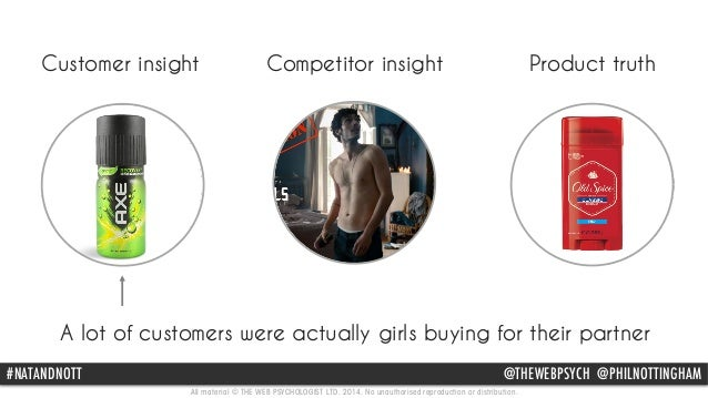 Customer insight Competitor insight Product truth  Leading competitor focused on unlikely guy getting the girl, but the  c...