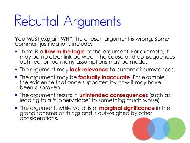 how to write a rebuttal in an argumentative essay