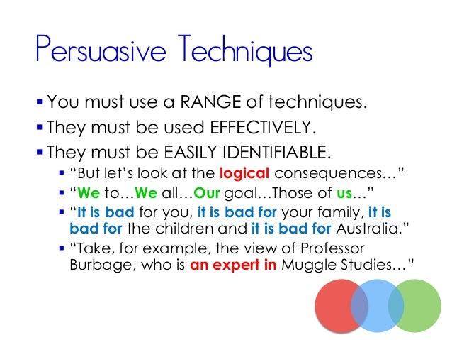 VCE English Persuasive Oral Presentation
