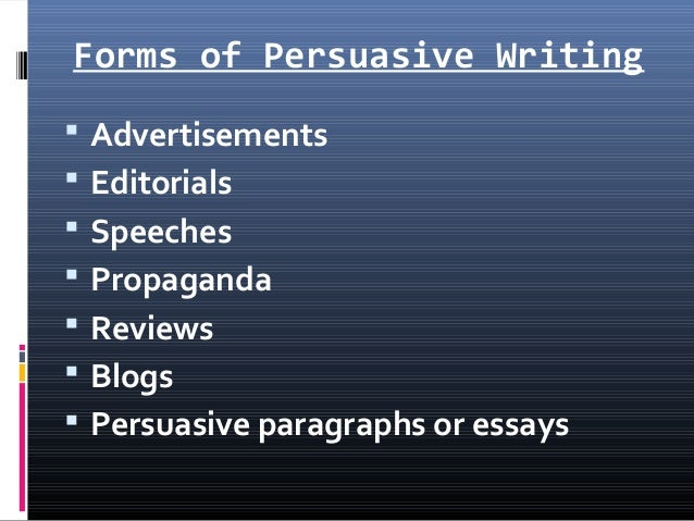 persuasive writing paragraph