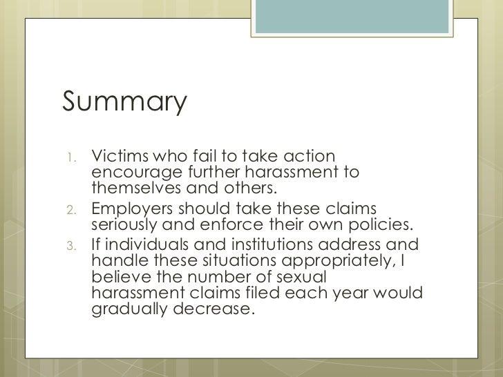 Sexual harassment examples presentation speech