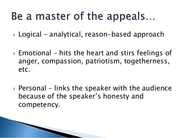 persuasive speech anger Definition: what is pathos why is it critical for public speakers examines pathos and emotional connection with a speaker's audience.