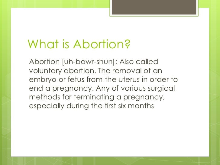 Persuasive essay against abortion