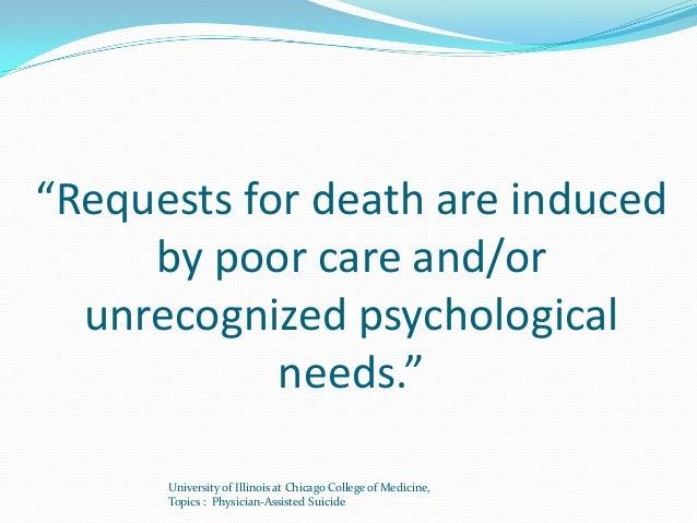 assisted suicide persuasive speech