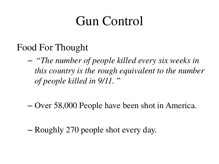 Gun control speech outline