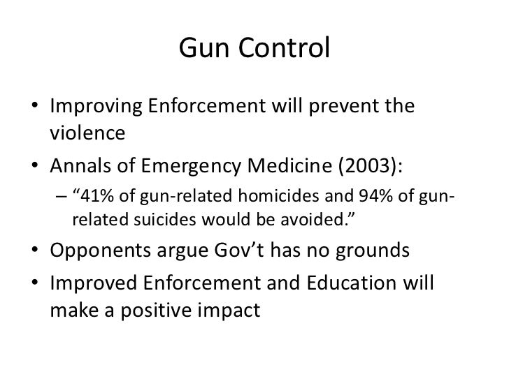 gun control persuasive speech ideas