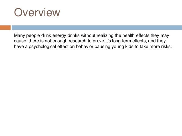 Energy Drinks Persuasive Essay