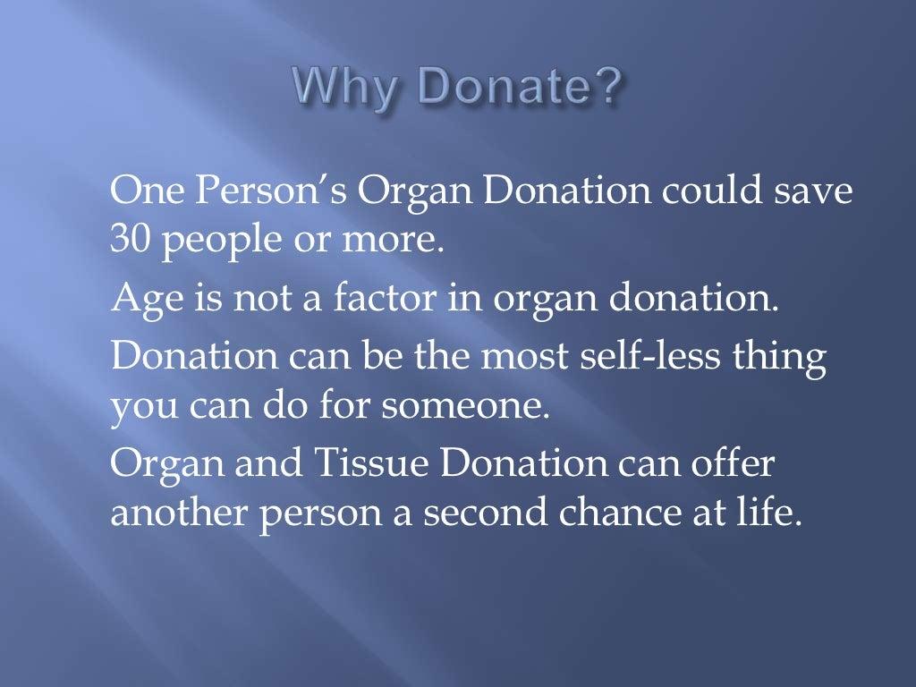 Organ donor persuasive speeches