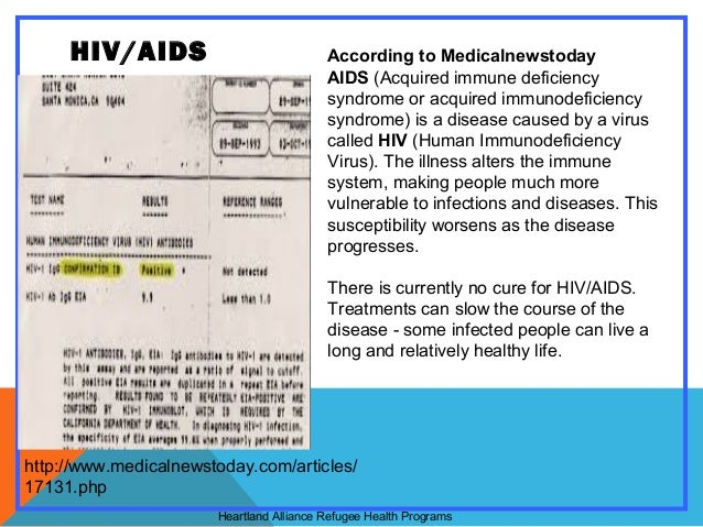 Aids hiv as a persuasive speech