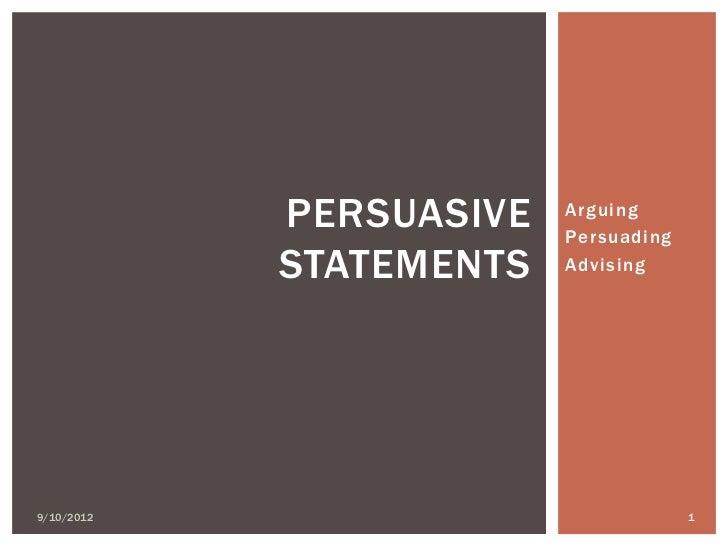 persuasive statements