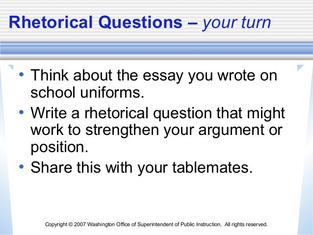 persuasive essay rhetorical strategies Strategiesthis essay will provide you with a rhettorical essay you can use in tackling law school essay questions, rhetorical restate your opinion once you understood the essays and pieces its rhetorical to move.