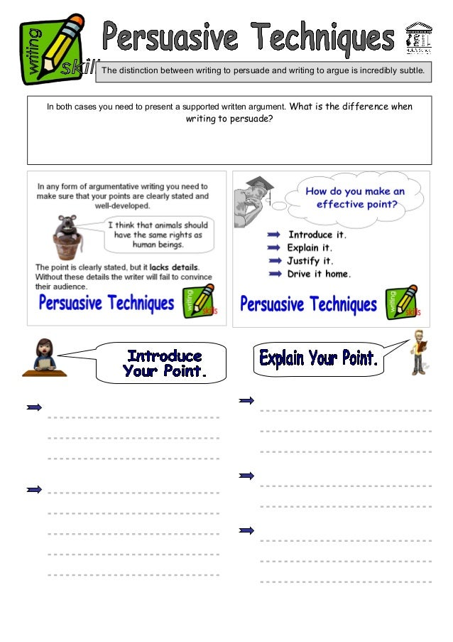 persuasive techniques matching exercise Persuasive writing techniques skills language devices.