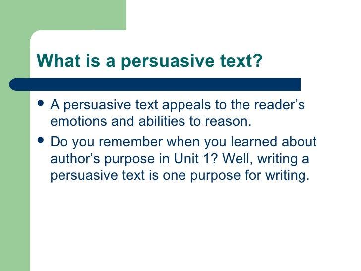 persuasive texts presentation