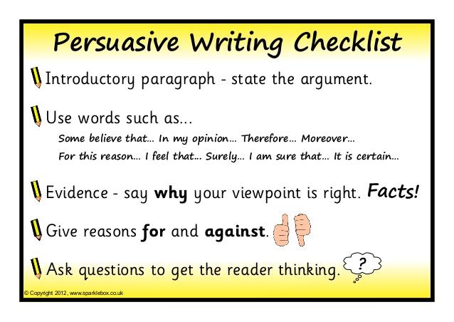 writing argumentative