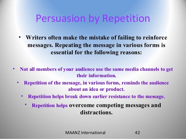 repetition essay These are some of the best examples of repetition you'll find in literature.