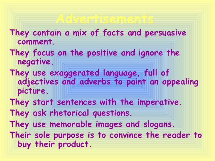 how to write a persuasive advertisement