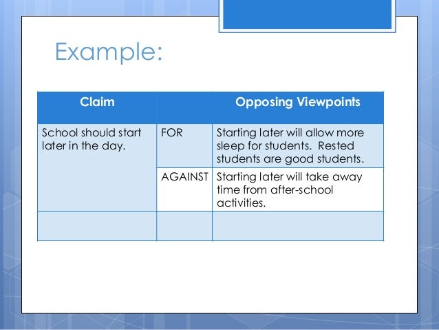 persuasive essay powerpoint claim opposing viewpoints