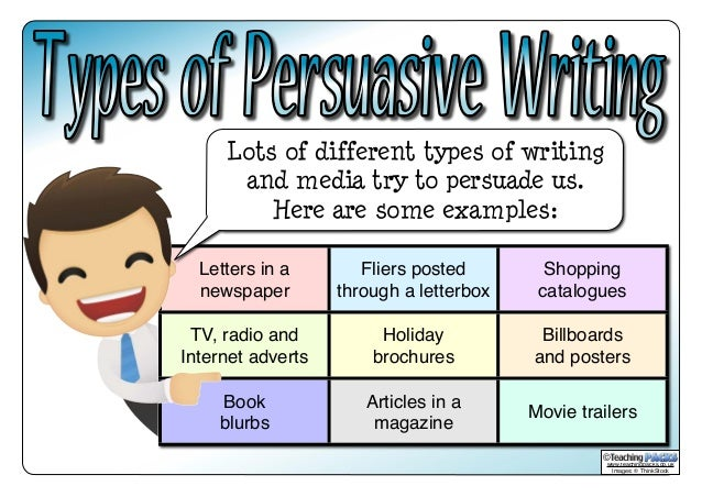 persuasive essay types of evidence The main purpose of writing a persuasive essay is, like the name suggests it, to convince the audience of a certain point this type of academic writing task is also known as argumentative.