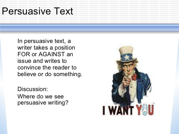 persuasive essay powerpoint middle school