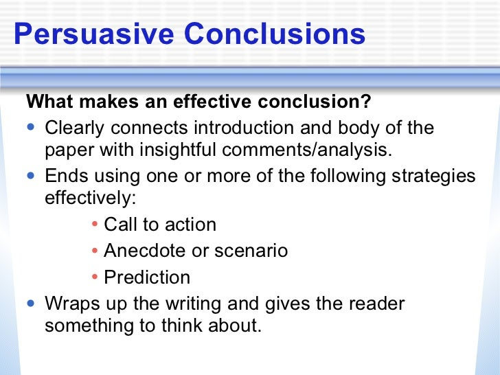 What Is the Call to Action in a Persuasive Essay?