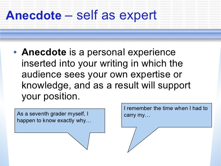 Anecdotes Examples For Essays