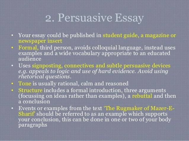 why is it important to use third person in a persuasive essay Conventions of narrative essays in writing your narrative essay, keep the following conventions in mind narratives are generally written in the first person, that is, using i however, third person (he, she, or it) can also be used narratives rely on concrete, sensory details to convey their point these details should create a.