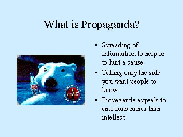 Propaganda techniques in the media