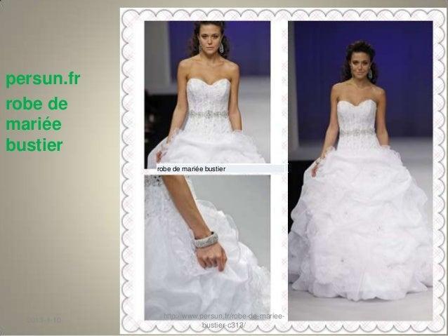 Persun.fr  robe de mariée bustier Slide 2