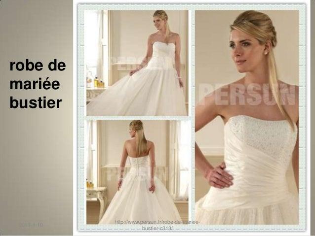 Persun.fr  robe de mariée bustier Slide 3