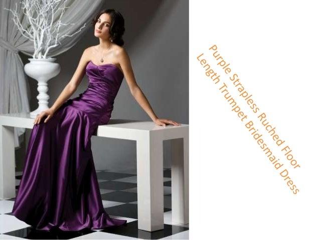 One Shoulder Floor Length A-Line Bridesmaid Dress