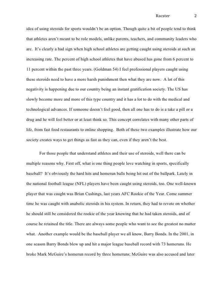 persusive essay finall  professional athletes are to blame because out them the 2