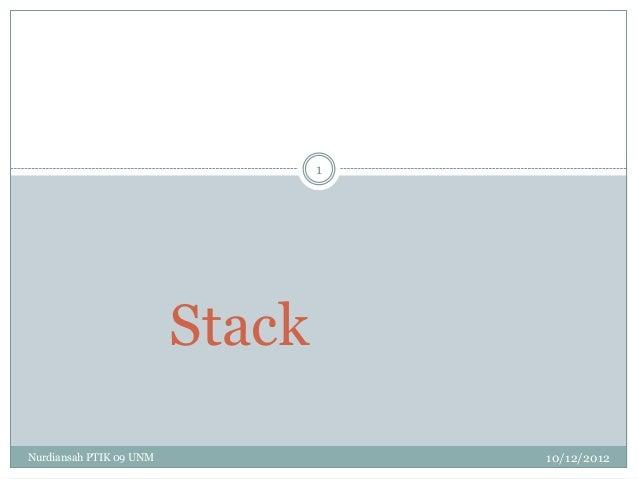 1                         StackNurdiansah PTIK 09 UNM               10/12/2012